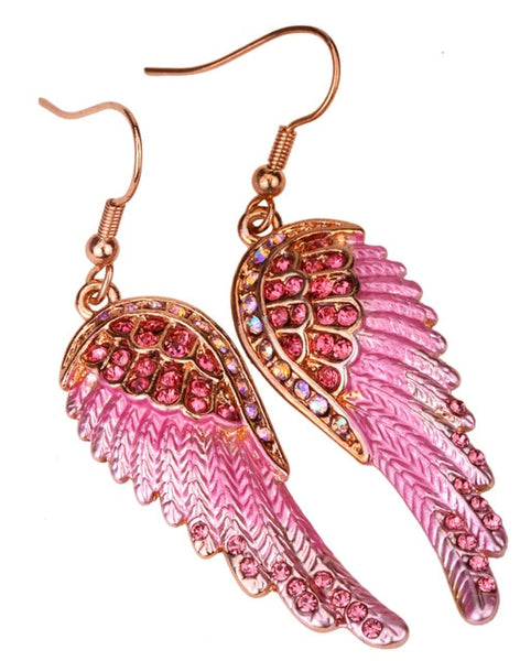 Antique Angel Wings Dangle Earrings
