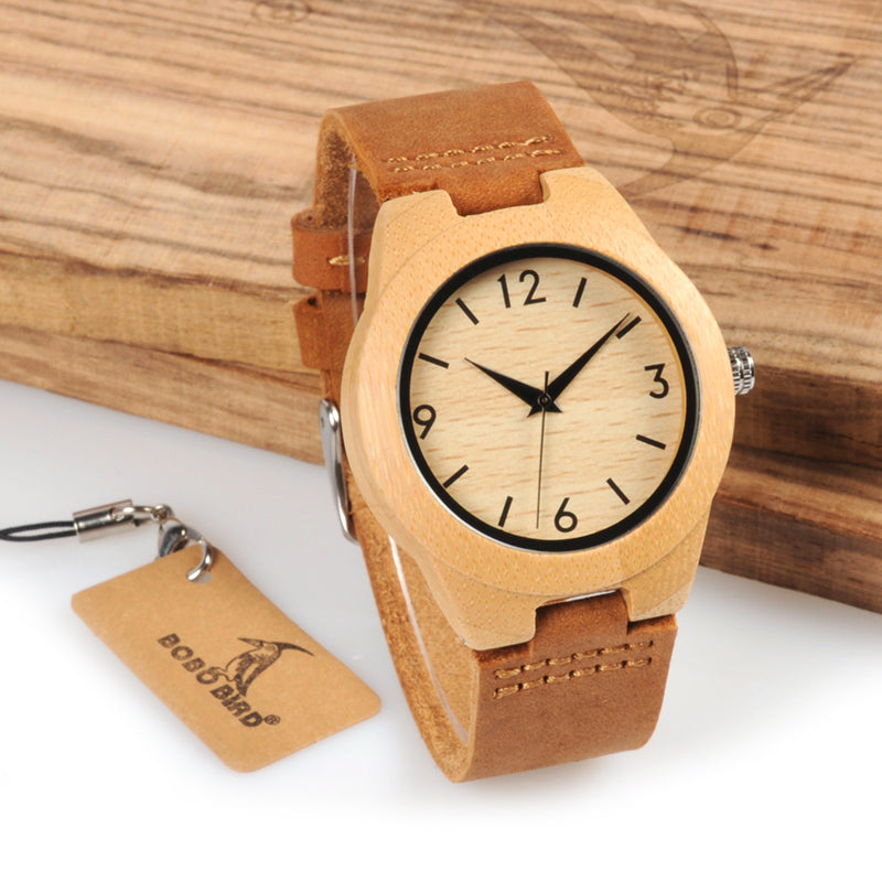 Husk - Stylish Simple Bamboo Watch