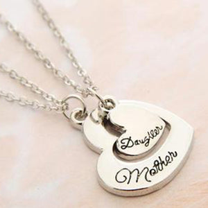 Mother&Daughter Love Letters Pendant Necklace Set