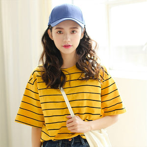 Girl friend stripe Short Sleeve T-Shirt