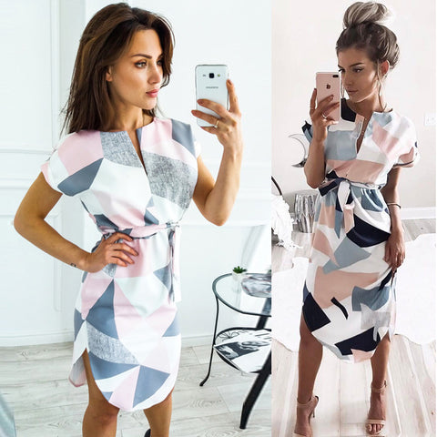 Elegant Geometric Dress