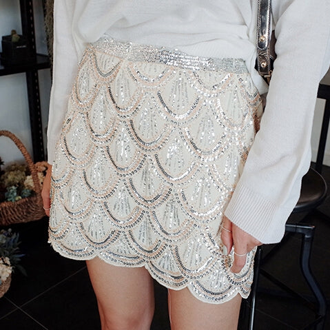Flapper Sequin Skirt
