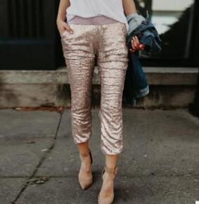 Midi Waist Sequin Pants