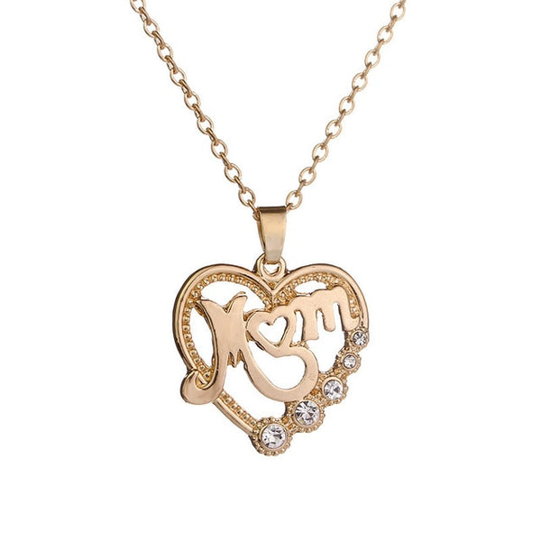 Gold/Silver Plated Crystal Heart Necklace