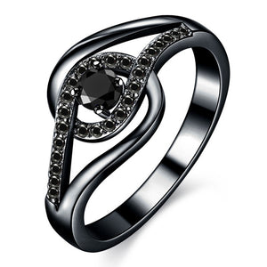Black Gold Color Fashion Engagement Rings