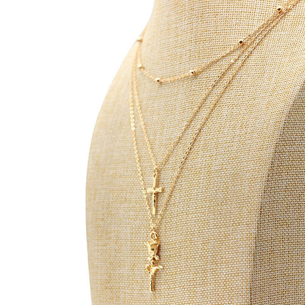 Religious Three Layered Necklace