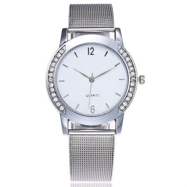 Fashion Crystal Full Steel Gold Watches