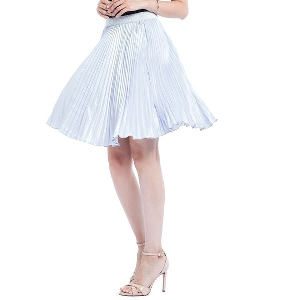 Autumn Satin Pleated Skirt