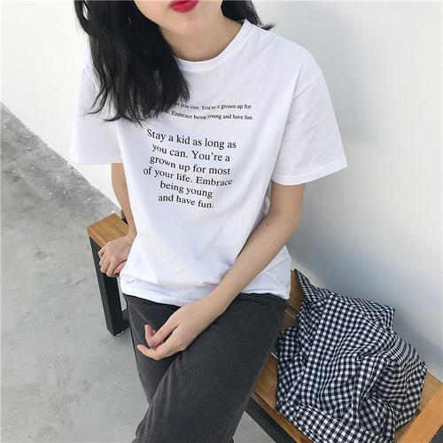 Letter Printed Casual T-Shirt