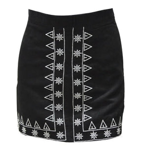 Vintage Embroidered Pencil Skirt