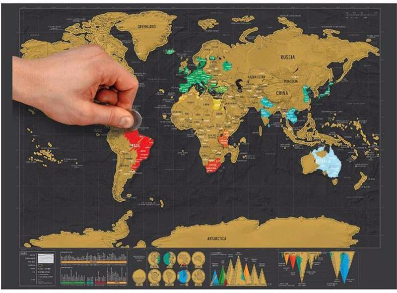 Scratch Off World Map Poster.Scratch Off World Map Poster Aqua Vida