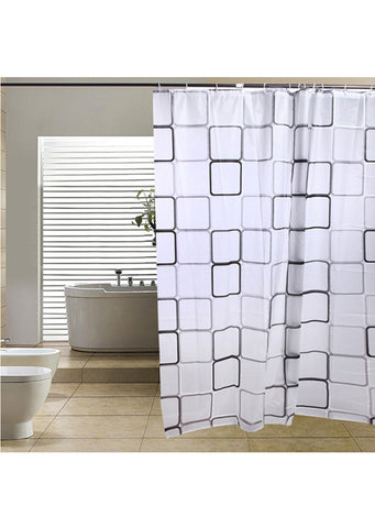 Abstract Squares Shower Curtain