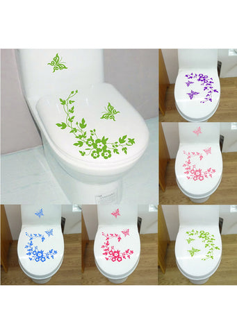 Butterfly Bathroom Vinyl Deco