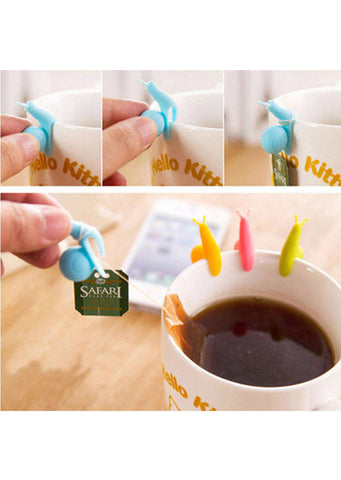 Cute Snail Silicone Tea Bag Holders (5-Pack)