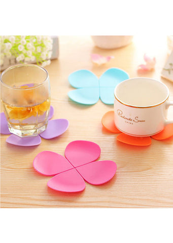 Flower Petal Coaster Set (4pcs)