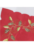 Red Embroidered Placemats