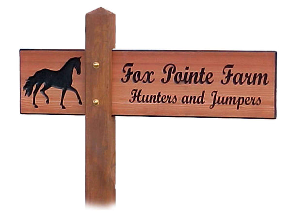 Custom Wood Address Marker
