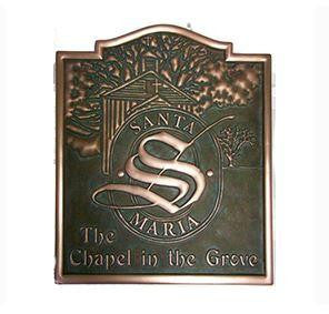 "3D Carved Sign   Oil-Rubbed Painted Finish             ""CASTLEWOOD"" Shape"