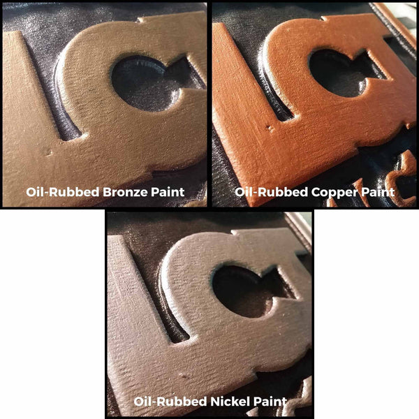 Oil Rubbed Bronze, Copper, Nickel Signs