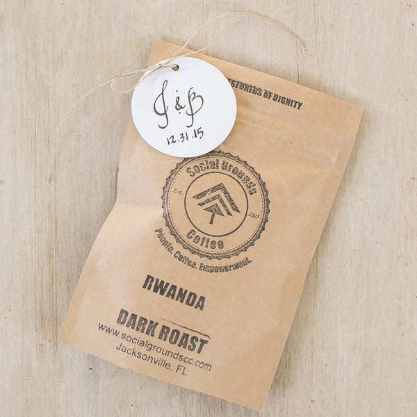 WEDDING FAVOR : Rwanda : Dark Roast (Pack of 25)