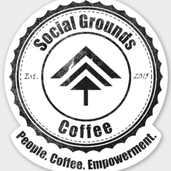 Social Grounds Coffee Sticker