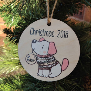 Printed Dog Bauble Boy or Girl