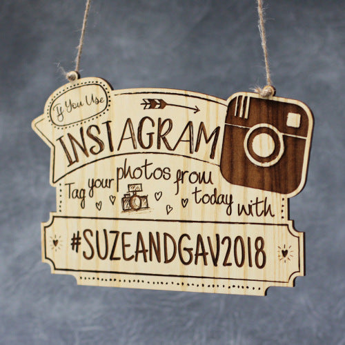 Instagram Personalised Wedding Sign