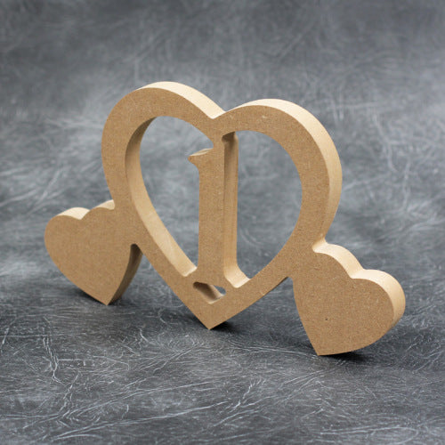 Wedding Table Numbers with Hearts