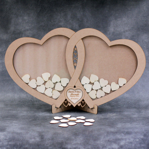 Wedding Linked Heart Drop Box