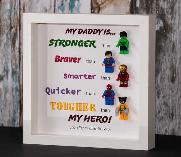 My Daddy Is... Superhero Frame (White or Black Frame Only)