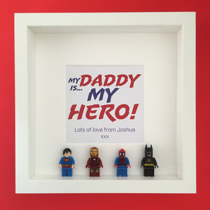 Mini Figure Super Hero Gift Frame - I Heart Unique - 1