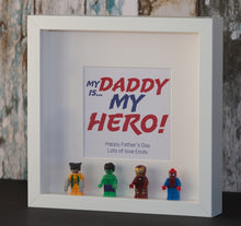 Load image into Gallery viewer, Mini Figure Super Hero Gift Frame (White or Black Frame Only)