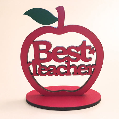 Best Teacher Freestanding Apple - I Heart Unique