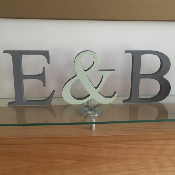 Freestanding Wooden Letters - I Heart Unique