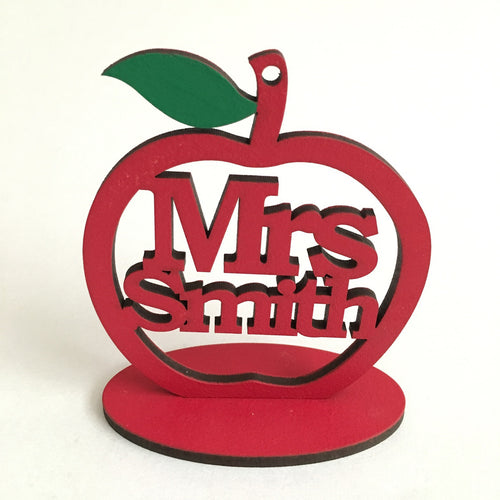 Personalised Freestanding Teacher Gift - I Heart Unique