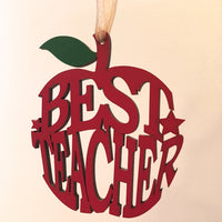 Best Teacher Hanging Apple - I Heart Unique