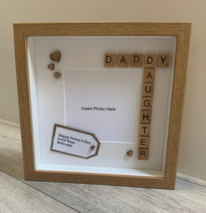Fathers Day Scrabble Frame (White or Black Frame Only)
