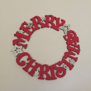 Merry Christmas Wreath - I Heart Unique