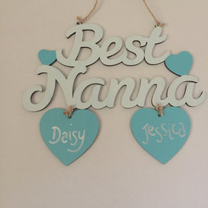 Best Nanna personalised hanging decoration - I Heart Unique