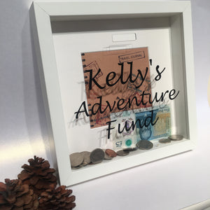 Personalised Adventure Fund Money Box - I Heart Unique - 1