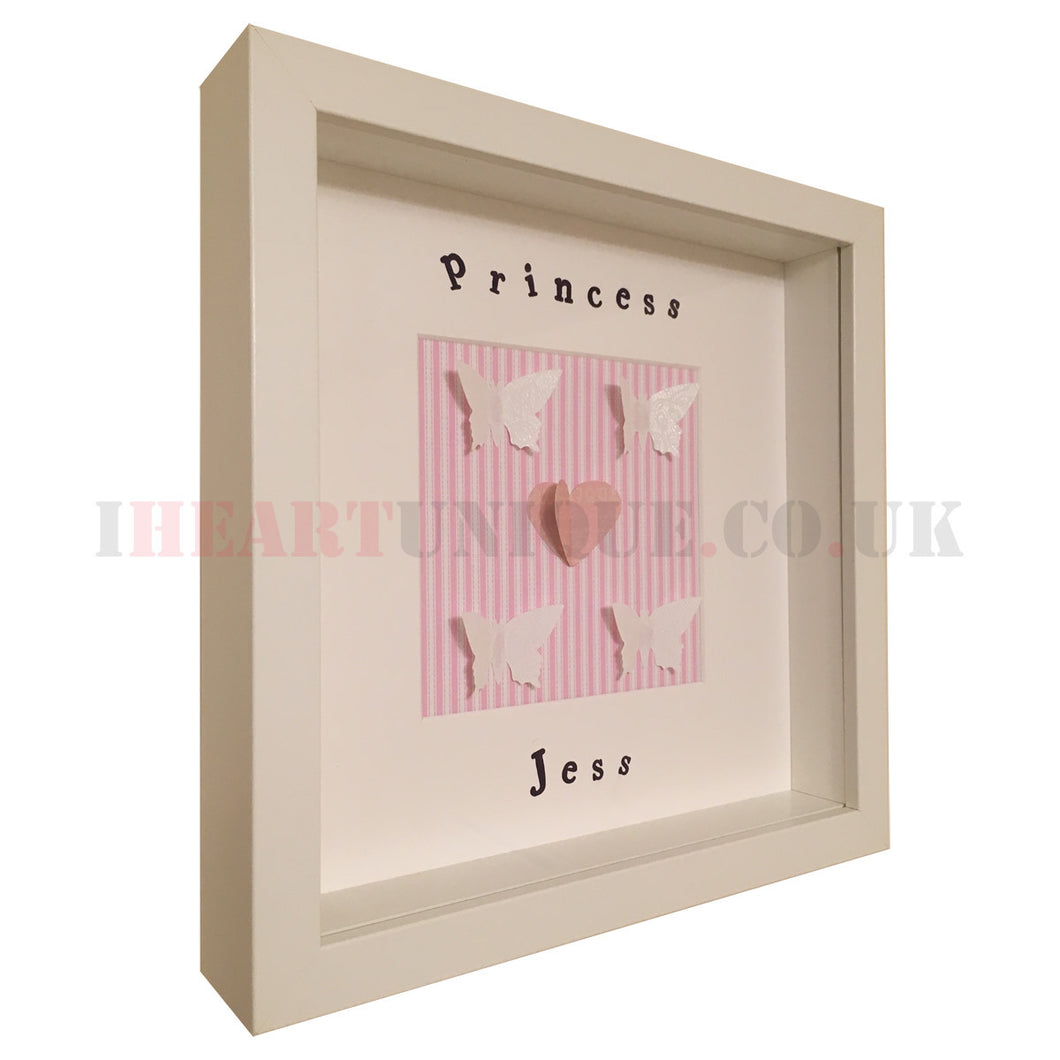 Kids Personalised Wall Art Frame - I Heart Unique - 1