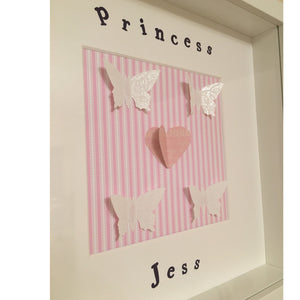 Kids Personalised Wall Art Frame - I Heart Unique - 2