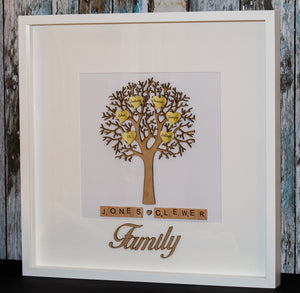Large Personalised 3D Family Tree Frame