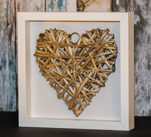 Wicker Heart Frame