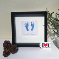 Personalised Baby Feet Framed Print - I Heart Unique - 4