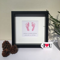 Personalised Baby Feet Framed Print - I Heart Unique - 2