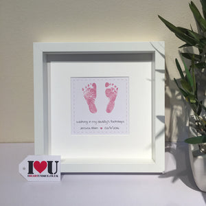 Personalised Baby Feet Framed Print - I Heart Unique - 1