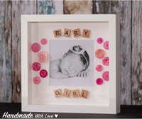 Baby Girl/Boy Button Photo Frame