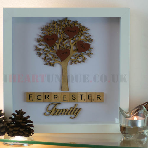 Personalised Family Tree Frame - I Heart Unique
