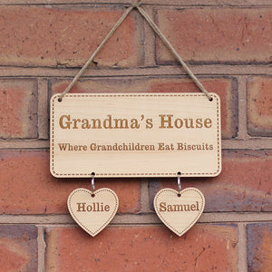 Personalised Grandma's House Hanging sign - I Heart Unique